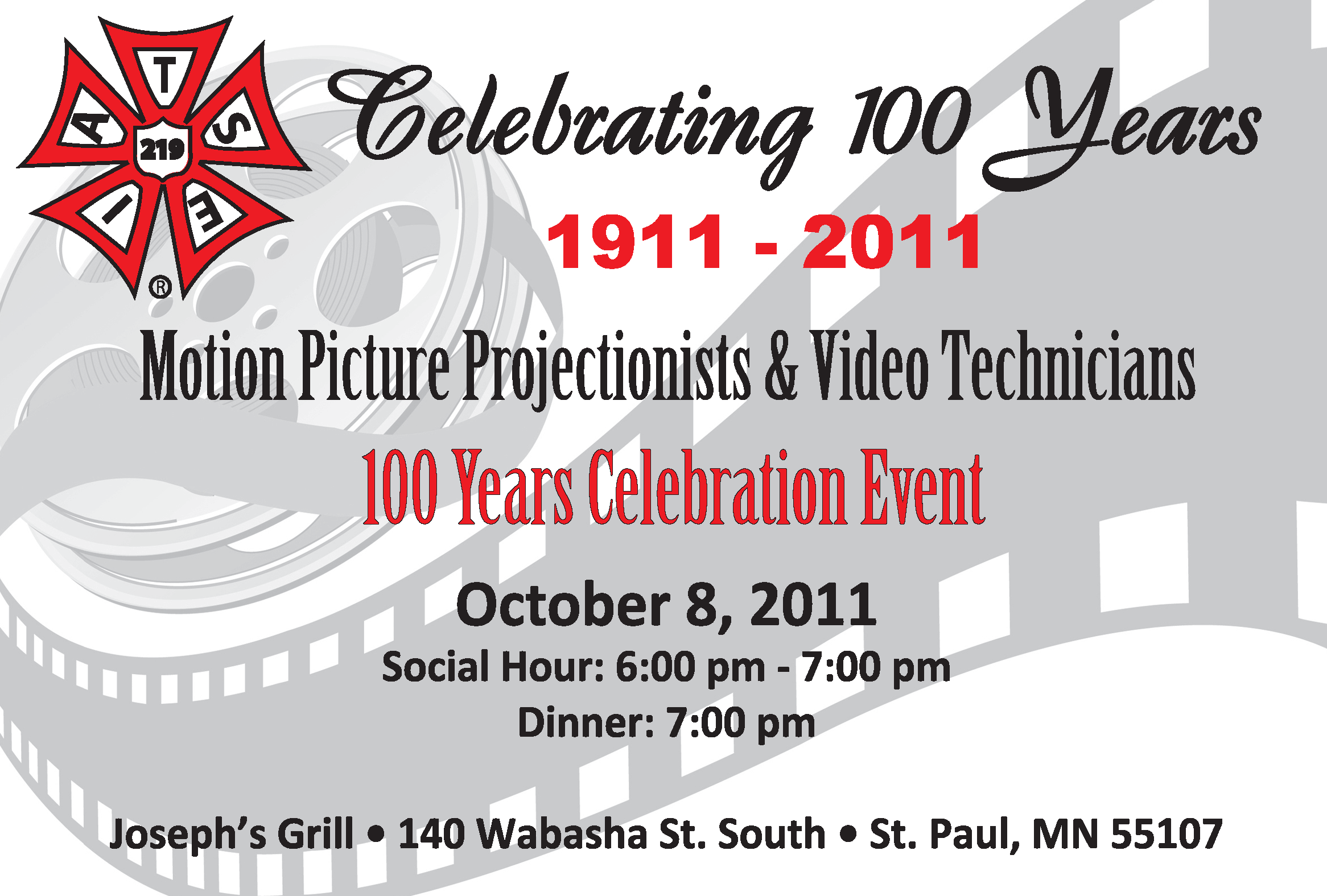 100th Anniversary Invitation